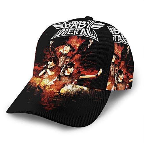 Tengyuntong Babymetal Gorra de bisbol Unisex Cool Ajustable Snapbacks Hat All Over Print Casual Outdoor Sport Caps Negro