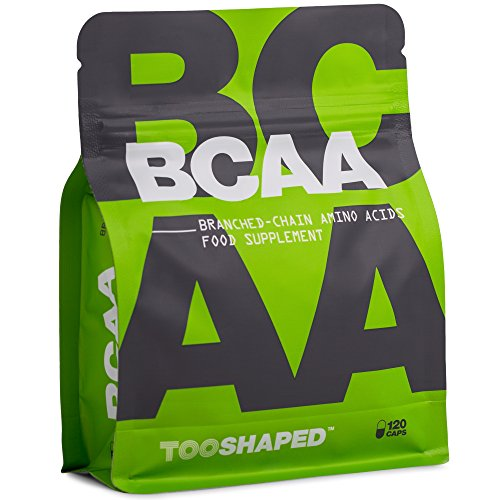 BCAA Kapseln 8:1:1 – Essentielle Aminosäuren für Muskelaufbau und Regeneration nach dem Sport – 120 vegane Kapseln von TOOSHAPED