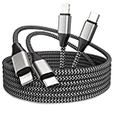 iPhone USB C to Lightning Cable, 2 Pack 10ft MFi 20W iPhone Fast Charger Nylon Braided Extra Long Cord Compatible with iPhone 12/12 Pro Max/12 Pro/11/11 Pro/X/XS/XR/XS Max/8/8 Plus/SE
