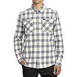 RVCA Camisa tejida de manga larga de franela de trabajo para hombre - blanco - Medium