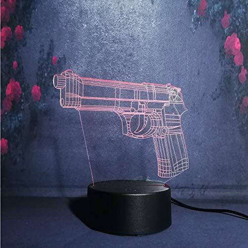 Wfmhra Battle Royale Spiel PUBG TPS Pistole Gewehr LED Nachtlicht Schreibtisch Tischlampe USB-Lampen Kinder Rollenspiel Spielzeug Dekor Geschenk Beleuchtung