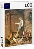Lais Puzzle Albert Anker - Chica alimentando a los Pollos 100 Piezas
