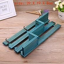 Wood Hangstelling Holder opslag Rack Organisator Opknoping Decor van het Huis Drie Lagen Hook Opslag Planken (Color : Blue A)