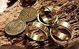 Coinring, Münzring, Ring aus Münze (20 Pfennig DDR), Messing - Double Sided coin ring - Größe 55 (17.5), handgeschmiedetes Unikat