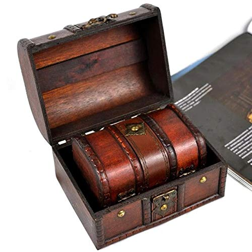 Gather together Small And Large Antique Classic Trinket Chic Bins Storage Box Vintage Jewellery Organizer Pirate Treasure Chest Holder Wooden Compact Desktop