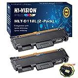 HI-VISION HI-YIELDS Compatible MLT-D118L Toner Cartridge MLTD118L D118L Replacement for Samsung Xpress M3065FW M3015DW (Black, 2-Pack)