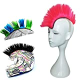Hai Hong Helmet Hawks Motorcycle Helmet Mohawk Synthetic Wigs for Bicycle/Almost Helmet/Stick Reusable Design/Pink