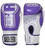 Ringside Apex Boxing Kickboxing Muay Thai Punching Bag Gloves, Purple/White, Large-X-Large