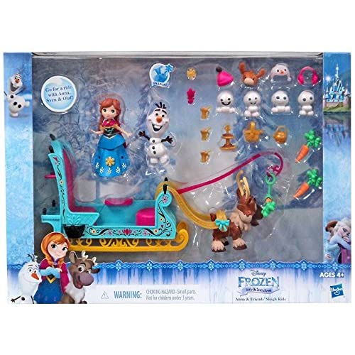3a493a6566002 Amazon.com  Disney Frozen Little Kingdom Anna   Friends  Sleigh Ride  Playset  Electronics