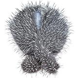 Futrzane Long Faux Fur Shawl Wrap for Woman - Classy Stole - Like Real Fur (Husky Raccoon)