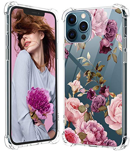 Tcbydl Carcasa para iPhone 12 Pro, de silicona, TPU, transparente, fina, para mujer y hombre, con esquinas de 6,1 pulgadas