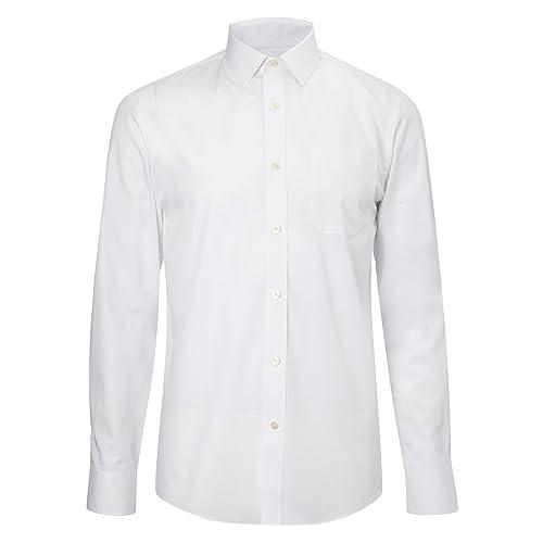 a3964343e44 Mens White Shirts Long Sleeve: Amazon.co.uk