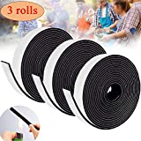 29.6 Ft BBQ Self Stick Gasket,Smoker Grill Tape for Ceramic Oven High Heat Gasket Replacement 1/8 in Thickness 4/5 in Wide (3 Pack)