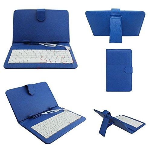 REALMAX Tastiera USB/Micro Supporto Custodia in Pelle PU per Tablet Android da 7Pollici A13Q88Regalo