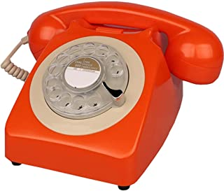 Retro Phone Vintage Classic Rotary Phone Rotating Antique Corded Telephone Home Office Hotel Fixed Landline Retro Landline