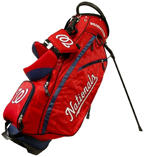 Team Golf MLB Washington Nationals Fairway Golf Stand Bag, Lightweight, 14-way Top, Spring Action Stand, Insulated Cooler Pocket, Padded Strap, Umbrella Holder & Removable Rain Hood