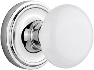Nostalgic Warehouse Classic Rosette with White Porcelain Door Knob, Privacy - 2.375
