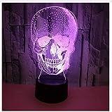 Increíble Calavera 3D Luz Nocturna Usb Lámpara Usb Punisher De Halloween Estado De Ánimo Colorido Sed Tema Luces Inicio Decration