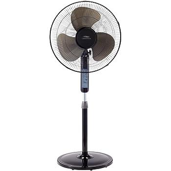 Amazon Com Lakewood Lsf1610br Bm 16inch Remote Control Stand Fan Black Home Kitchen