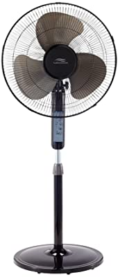 Lakewood LSF1610BR-BM 16inch Remote Control Stand Fan,Black