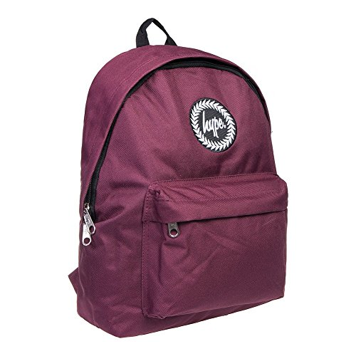 Hype Backpack Bags Rucksack - Plain Burgundy – Ideal School Bag with Unique styling
