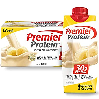 Premier Protein 30g Protein Shakes, Chocolate, 11 Fluid Ounces, 4 Count
