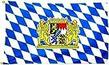 Flagge Fahne Bayern mit Wappen und Löwen 60x90cm