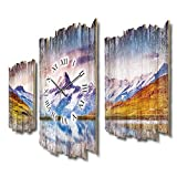 Reloj de pared silencioso sin tic tac, 95 x 60 cm, de madera MDF, DTWH043FL (silencioso)