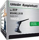 Rameder Komplettsatz, Dachträger SquareBar für Jeep Wrangler III (116048-07574-5)