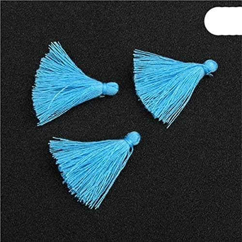 100 UNIDS 3 CM Mini Hilo de Algodón Borla de Tela DIY Colgante Joyería Pulsera Fabricación de Llaves Fringe Trim Craft Borlas Accesorios de Costura-Color 24