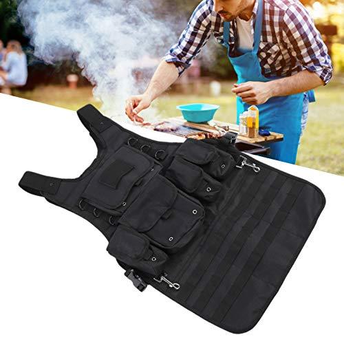 Delantal de Cocina, Delantales multifuncionales para Acampar al Aire Libre para Mujeres/Hombres, fáciles de Usar con Bolsillos de Almacenamiento extraíbles para cocinar al Aire Libre