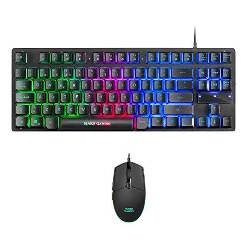 Mars Gaming MCPTKLPT, Combo RGB Teclado y Ratón, Diseño TKL, Layout Portugués