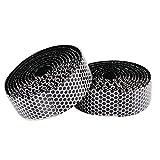1 par de cinta antideslizante para manillar ihreesy 2 m transpirable para manillar de bicicleta cinta autoadhesiva amortiguadora y a prueba de golpes con 2 tapas de cierre, color blanco