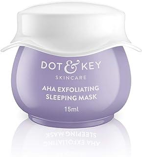 Dot & Key Dot & Key Aha Exfoliating Sleeping Mask 12% Lactic + 2% Hyalauronic Mini, 15 Ml, Purple, 15 ml