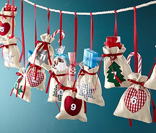 Tchibo Adventskalender zum selber Befüllen Stoffbeutel Weihnachten