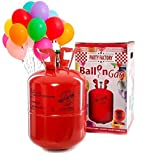Party Factory Ladenburg Helium Flasche für 50 Luftballons inkl. 50 Party Ballons