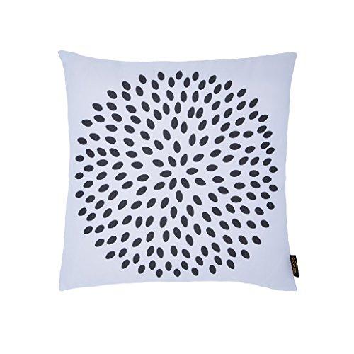 Zons Coussin Design Pissenlit 45x45 Cm 6 Couleurs + Rembourrage 450g (Blanc)