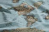 Stoff am Stück Stoff Baumwolle Polyester Weltkarte