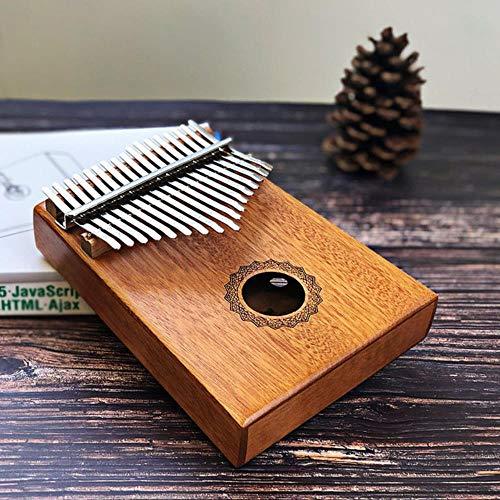 KADIS 17 Tasten Kalimba Thumb Piano Hergestellt aus Single Board Holz Mahagoni Body Musikinstrument, Krone aus Wasser