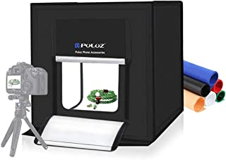 PULUZ Photo Studio Super Bright Photography Light Box Lightbox 24 Inch Portable Shooting Light Tent with 6 Colors Photography Backdrops Waterproof Background Screen