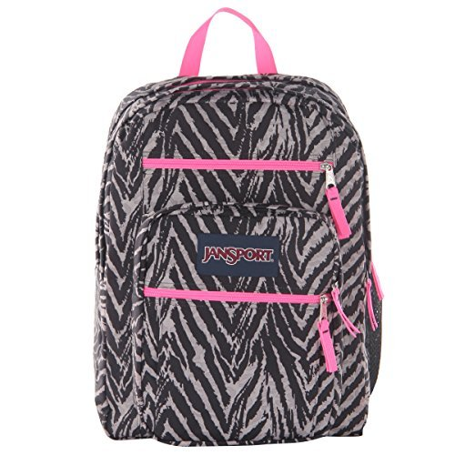 JanSport Big Student Backpack - 2100cu in Grey Tar Wild At Heart, One Size [並行輸入品]