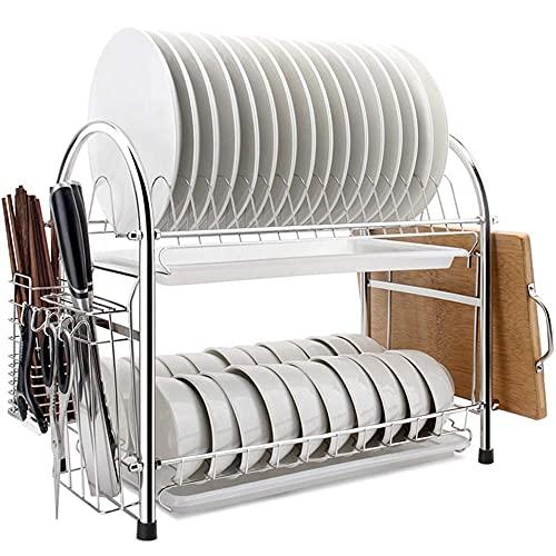 食器は食器棚のドレイントレイ収納キッチン収納棚食器食器収納ボックスステンレススチール製のキッチン用品ラック食器水切りラック
