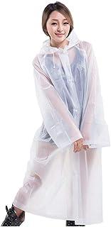 applemi 2 Pcs Poncho De Lluvia Reutilizable, Impermeable Transparente Eva,Liviano, Impermeable Y Resistente A La Rotura, p...