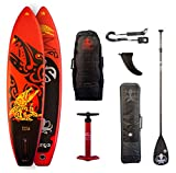 Runga Toa Air 10.6Inflatable Sup ISUP Stand Up Paddle Board + BRAVO–Doble bomba + notebook de carbono Remo