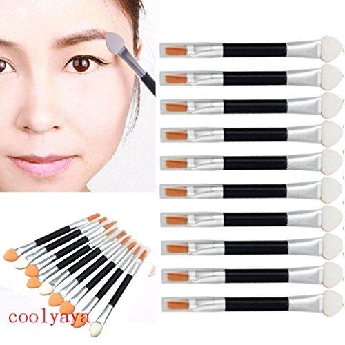 MuSheng(TM) Pinceaux 10pcs maquillage double fin fard outil brosse petite éponge