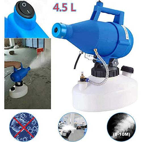 LSHOME Pulverizador Eléctrico ULV Máquina de Desinfección del Nebulizador Pulverizador de Niebla Portátil 4.5L para Interiores, Exteriores, Lugares Públicos, Oficinas, Industrial