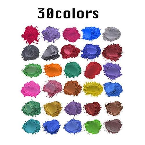 Fancylande Mica poeder van slijm, pigment, cosmetica-graad, pigmentpoeder voor slijmpoeder, om zelf te maken
