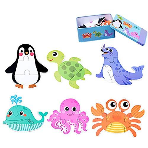 De los niños juguetes educativos Jigsaw   del bebé niños de madera de aprendizaje Juguetes educativos Juguetes Animal Kids dinosaurio de madera del coche rompecabezas juego Jigsaw juego Regalos para e