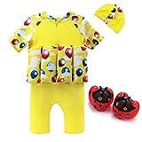 Maillot de Bain pour Enfants Swingwear de Protection Solaire avec Bonnets de Bain et Armband