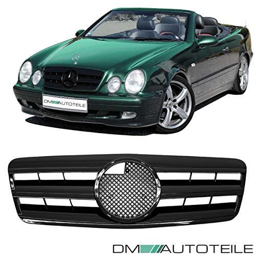 DM Autoteile CLK W208 C208 A208 Gitter Grill Kühlergrill Schwarz glänzend 1997-2003